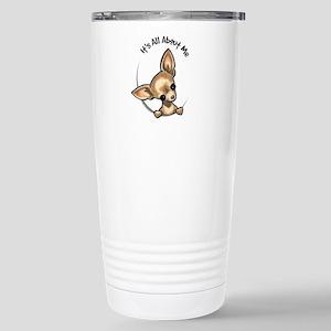 Tan Chihuahua IAAM Stainless Steel Travel Mug