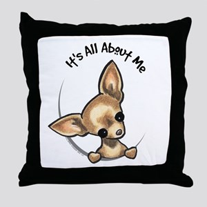 Tan Chihuahua IAAM Throw Pillow