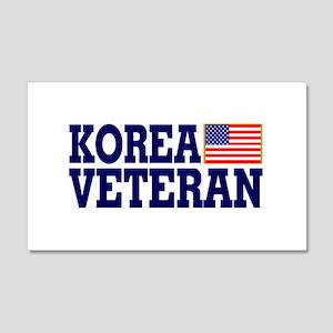 KOREA VETERAN 20x12 Wall Peel