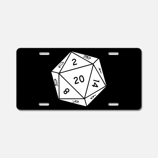 D20 Dice Aluminum License Plate