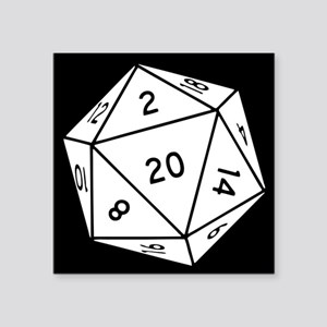 D20 Dice Sticker