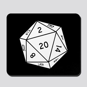 D20 Dice Mousepad