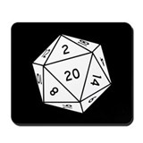 20 sided dice Classic Mousepad
