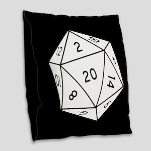 D20 Dice Burlap Throw Pillow
