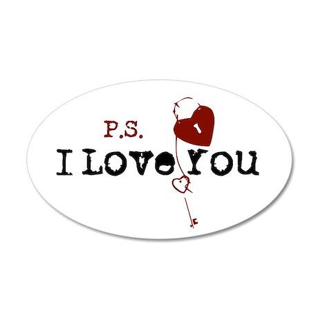 PS I Love You 20x12 Oval Wall Peel