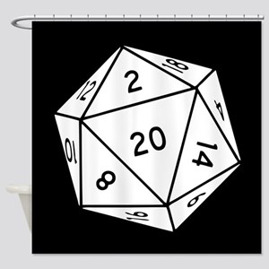 D20 Dice Shower Curtain
