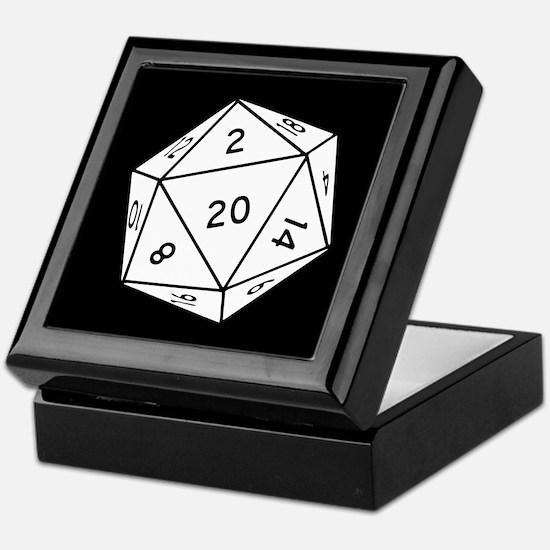 D20 Dice Keepsake Box