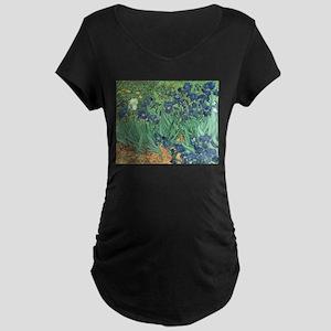 Irises, 1889 by Vincent Van Gogh Maternity T-Shirt