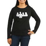 LTT Rushmore Women's Long Sleeve Dark T-Shirt