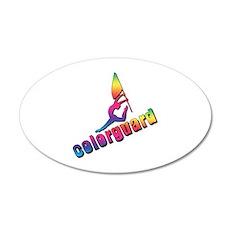 Colorful Colorguard 20x12 Oval Wall Peel