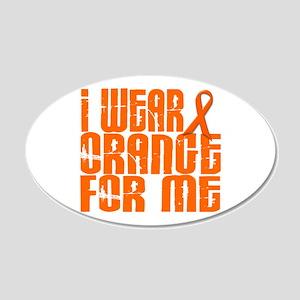 I Wear Orange For Me 16 20x12 Oval Wall Peel