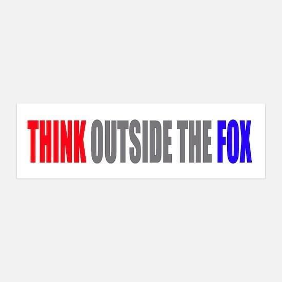 Think Outside the Fox 36x11 Wall Peel