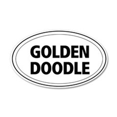 Golden Doodle 20x12 Oval Wall Peel