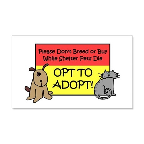 Don't Breed or Buy - Opt to A Sticker (Rectangular