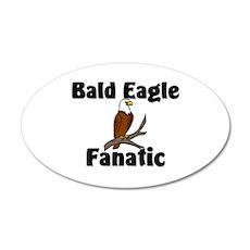 Bald Eagle Fanatic 20x12 Oval Wall Peel