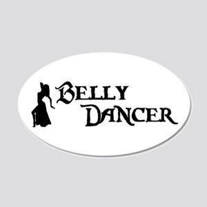 Belly Dancer Pose 20x12 Oval Wall Peel