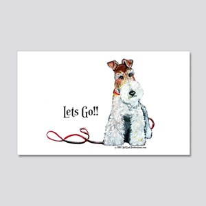 Fox Terrier Lets Go! 20x12 Wall Peel