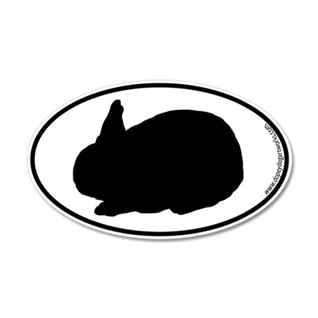 Bunny SILHOUETTE 35x21 Oval Wall Peel