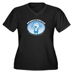 Adequacy Ach Women's Plus Size V-Neck Dark T-Shirt