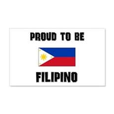 Proud To Be FILIPINO 20x12 Wall Peel