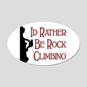 Rock Climbing 20x12 Oval Wall Peel