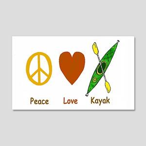Peace,Luv,Kayak 20x12 Wall Peel