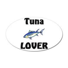Tuna Lover 20x12 Oval Wall Peel