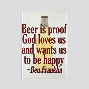 Beer is Proof Rectangle Magnet