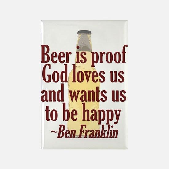 Beer is Proof Rectangle Magnet