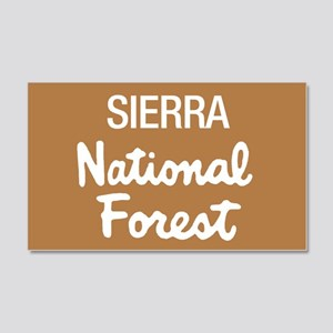 Sierra National Forest (Sign) Sticker (Rectangular