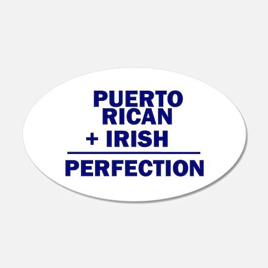 Puerto Rican + Irish 20x12 Oval Wall Peel
