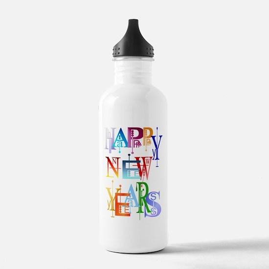 Happy New Years Water Bottle
