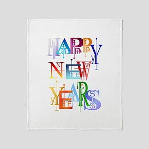 Happy New Years Throw Blanket