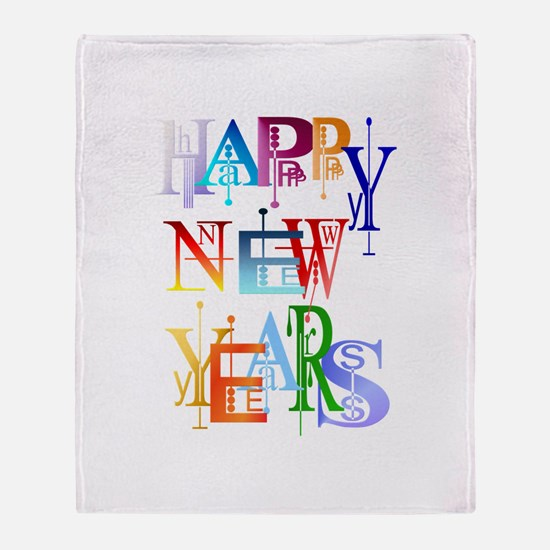 Happy New Years Throw Blanket