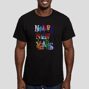 Happy New Years Men's Fitted T-Shirt (dark)