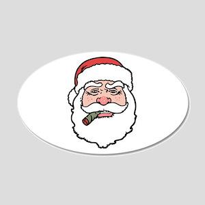 Smokin' Santa 20x12 Oval Wall Peel