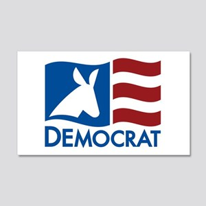 Democratic Flag 20x12 Wall Peel