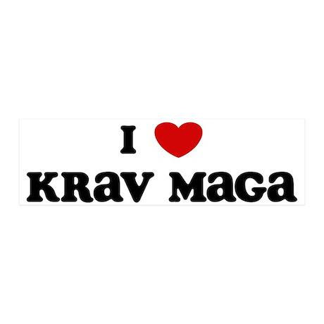 I Love Krav Maga 36x11 Wall Peel
