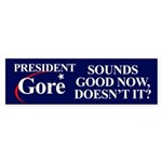 PRESIDENT GORE Bumper Sticker