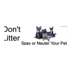 """Don't Litter"" 36x11 Wall Peel"