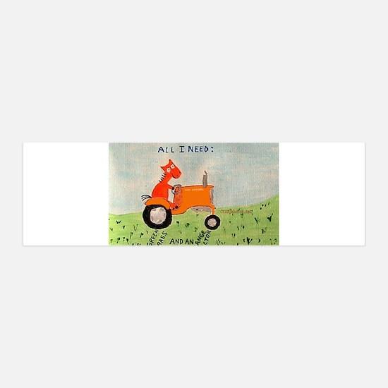 Orange Tractor 36x11 Wall Peel