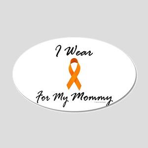 I Wear Orange For My Mommy 1 20x12 Oval Wall Peel