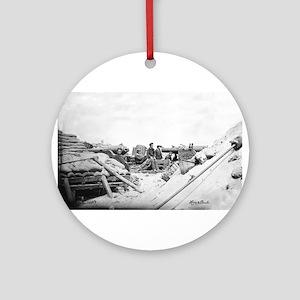 80 Pound Whitworth Cannon Ornament (Round)