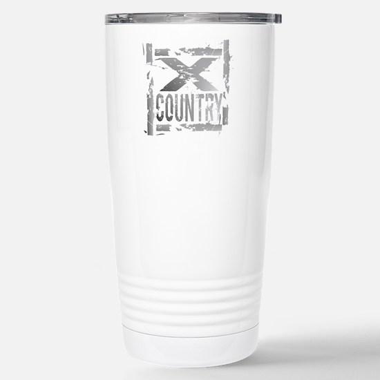 Cross Country Grunge Stainless Steel Travel Mug