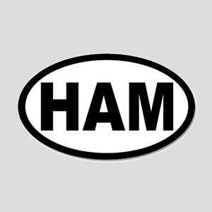 Ham Amateur Radio 20x12 Oval Wall Peel
