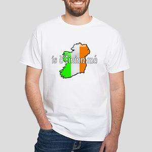 """""""I am of Ireland"""" White T-Shirt (2-sided)"""