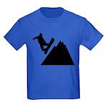 Go Snowboarding! Kids Dark T-Shirt