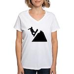 Go Snowboarding! Women's V-Neck T-Shirt