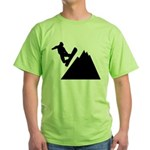 Go Snowboarding! Green T-Shirt