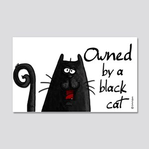 owned by a black cat 20x12 Wall Peel